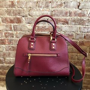 Aldo Red Satchel with Long Strap